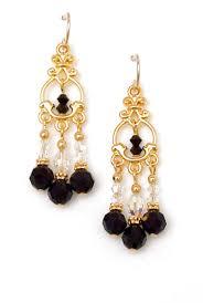 03 04 860 black victorian crystal chandelier earrings