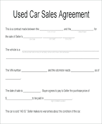 Agreement Letter Sample For Selling Car Inspirational Used Sale