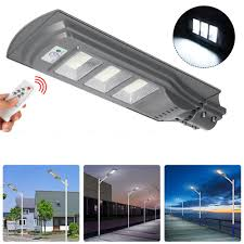 150w 150 Led Solar Street Light Pir Motion Sensor Outdoor Garden Wall Lamp With Remote