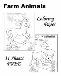 farm animals coloring pages for kids printable. Farm Animal Coloring Pages Intended Animals For Kids Printable