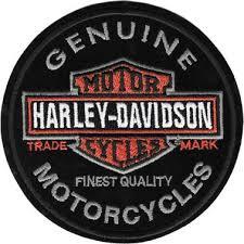 harley davidson round trade mark logo patch