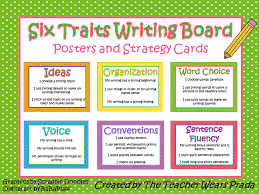 Six Traits Writing Board by The Teacher Wears Prada   TpT moreover the 6 Traits  with a cheat sheet additionally  in addition 6 Six Traits Writing Bulletin Board Headers and Skill Cards as well Spoonful of Sugar Teaching  Writing Traits moreover Six Trait Writing Summary Scoring Guide besides 6 Traits of Writing   Using the Model in the Classroom furthermore 6 Traits Writing Board  Cafe Inspired  and Checklist   Cafes as well Media Center   Six Traits likewise CMCSS District Writing Model Six Traits Rubric  condensed version likewise . on latest six traits of writing