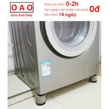 Chống rung máy giặt - 4 miếng cao su 1 và 2 tầng - Kệ máy giặt - Chân đế máy  giặt - Chống ồn máy giặt - Phụ kiện giặt ủi chính hãng