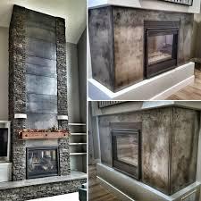 custom metal art fireplace decor