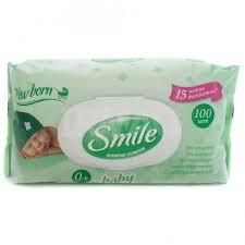 <b>Влажные салфетки Smile</b> Baby Newborn (100 шт.) - IRMAG.RU