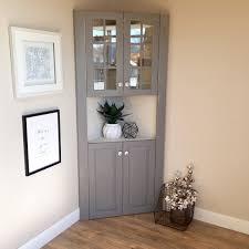 Corner Kitchen Hutch Farmhouse Furniture Tall Corner Cabinet