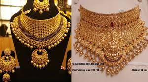 Gold Cheek Necklace Design Light Weight Gold Choker Necklace Designs By Jewel Fashion