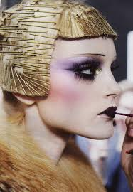 dior 2009 pat mcgrath makeup artist extreme make up was inspired by the 20s typical for the period bob haircut