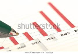 Chart Showing Increase Green Pen Over Chart Showing Increase Stock Photo Edit Now