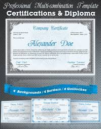 Professional Certificates Templates 50 Diploma And Certificate Templates In Psd Word Vector Eps Formats