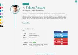 Interactive Resume Prismcv Stylish Interactive Resume Cv Template Umairrazzaq 1