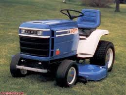 advertising photo of ford lgt 125 garden tractor