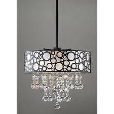 mn bubbles pattern 4 light crystal cascading chandelier 6 hx16 w