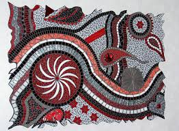 wall art ideas design mixed stained glass mosaic wall art freeform red colors circle shaped design artistic glass mosaic wall art mixed premium materials