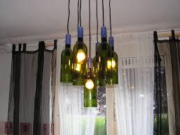 wine bottles decorated chandelier