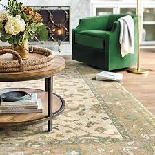 patterned rug under coffee table in rug sizes guide ballard designs