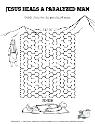 Jesus Heals Coloring Page Heals A Blind Man Coloring Page Heals