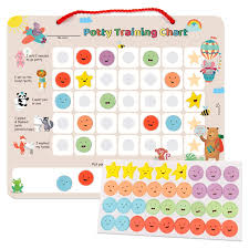How To Make A Potty Training Chart Putska Potty Training Magnetic Reward Chart For Toddlers Potty Chart With Multicolored Emoji Star Stickers Motivational Toilet Training For Boys