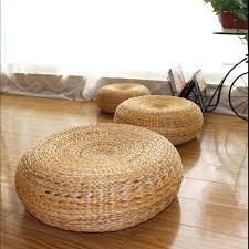 round wicker ottoman round wicker footstool banana leaf stool ideas traditional natural nice round wicker footstool outdoor wicker ottoman with cushion