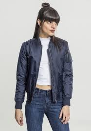 <b>Куртка URBAN CLASSICS Ladies</b> Basic Bomber Jacket Navy ...
