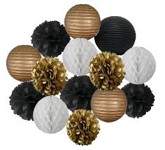 Black And Gold Decorative Balls