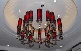 guzhen stainless steel chandelier modern pendant lamp for hotel lobby