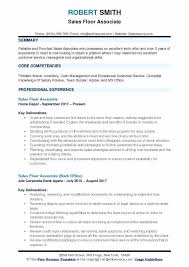 Associate Resume Sales Floor Associate Sales Floor Associate Resume Sample Sales