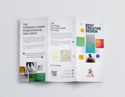 Best Brochure Templates Best Creative Corporate Tri Fold Brochure Template Graphic