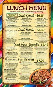 Online Menu of Cinco De Mayo Mexican ...