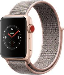 Apple - GSRF Apple Watch Series 3 (GPS + Cellular) 38mm with Pink Sand  Sport Loop - Gold Aluminum
