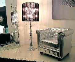 chandelier floor lamp black crystal style table contemporary canada