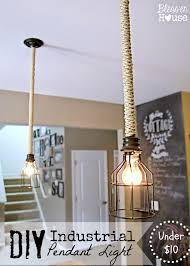 diy industrial pendant light bless er house