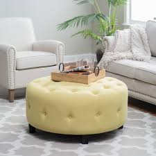 captivating living room design tufted. Awesome Tufted Ottoman For Your Living Room Design: Round Cream Linen Upholstered Captivating Design G