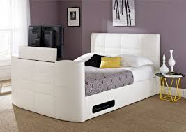 ... York Leather White TV Bed ...