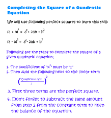 very easy to solve quadratic equations if we know how to complete their square using algebra actually the quadratic formula is derived using this skill