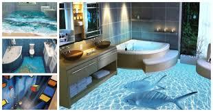 3d Bathroom Tiles Awesome Bathroom 3d Floor Designs