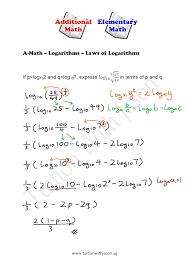 math laws a math logarithms laws of logarithms singapore additional math