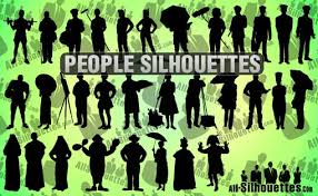 Vectors Silhouettes Weekly Freebies 350 Human Vector Silhouettes Design Shack