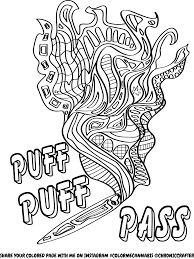 Free Stoner Coloring Page From Chronic Crafter Drugz Coloring