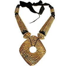details about natural buffalo horn tribal stripe brown colour huge oversized pendant necklace