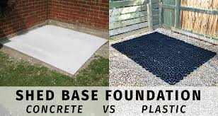 shed base comparison concrete vs