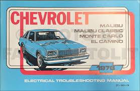 1978 Chevy Malibu and Monte Carlo Foldout Wiring Diagram Original