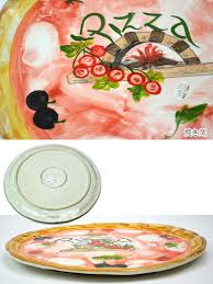 made in italy pizza plate pizza dish pizza tray tray pottery tableware italy european interior imported gadgets gift packaging free kitchen gadgets dinner