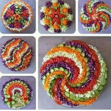 How To Decorate Salad Tray Caroline Cloud Украшение блюд Pinterest Cloud Food art and Salad 12
