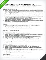 Combination Resume Templates Adorable Customer Service Manager Combination Resume Template Free Templates