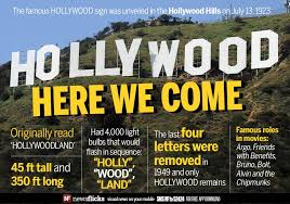 Image result for The Hollywood sign has appeared in dozens of movies