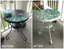 Glass shard tables can go for quite a bit of money now. Luckily, they  aren't that difficult to make out of a simple metal table!