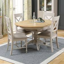 sworth grey painted round extending dining table and 4 chair set the furniture market