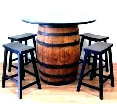 whiskey barrels furniture jack table barrel chairs chair outdoor ideas landscaping