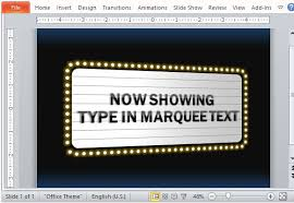 Movie Powerpoint Template Movie Theater Sign Powerpoint Template